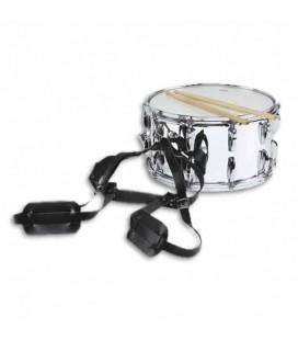 Ortolá Snare Drum Adjustable Strap 335 680 with Shoulders Reinforcements Black