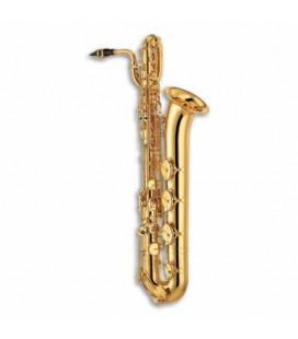 Saxofone barítono Yamaha YBS32 Dourado MI bemol com Lá Grave com Estojo