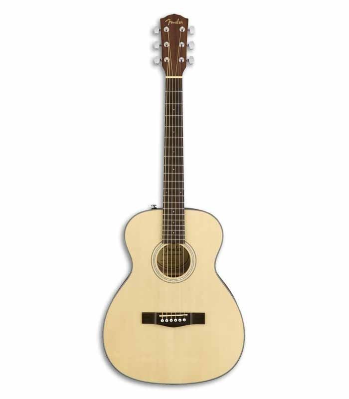 Guitarra Acústica Fender Travel Spruce Maciço e Mogno Natural
