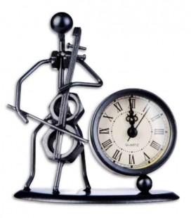 SML Cellist Statuette Clock