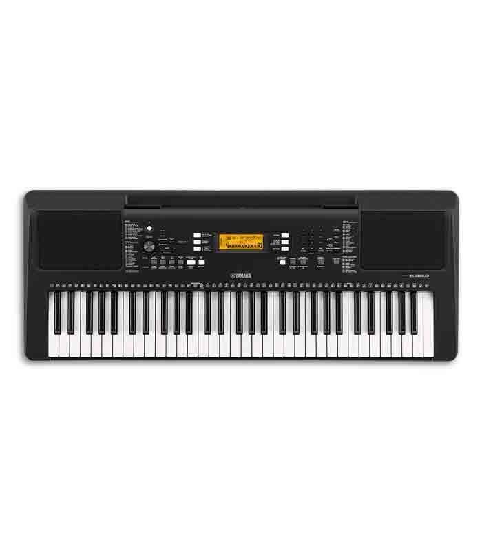 Foto superior do teclado Yamaha PSR E363