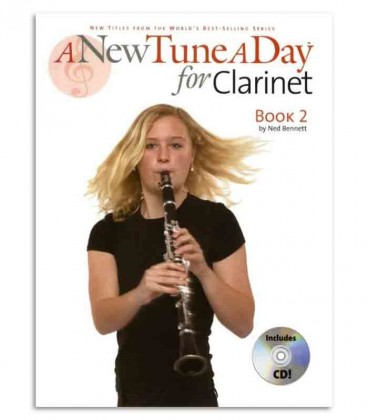 Livro Music Sales BM12177 A New Tune a Day Clarinet Book 2 com CD