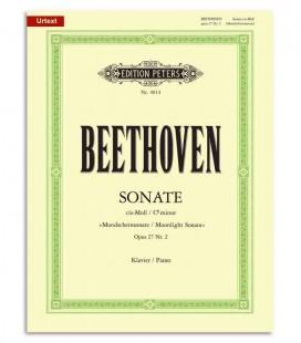 Capa de Beethoven Sonata em Dó Sostenido Menor Moonlight OP27/2