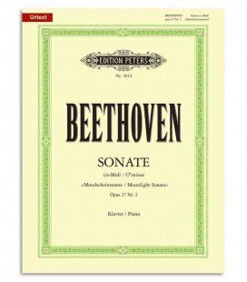 Libro Edition Peters EP4014 Beethoven Sonata en Do Sostenido Menor Moonlight OP27/2