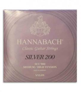 Juego de Cuerdas Hannabach E900 MHT para Guitarra Clásica Nilón Tensión Media Alta