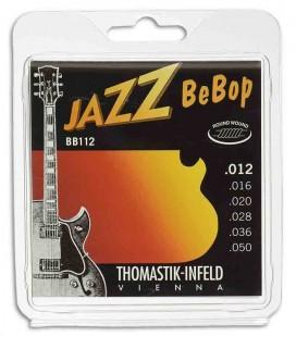 Jogo de Cordas Thomastik 012 BB 12 Bebop para Guitarra Elétrica Jazz