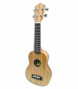 Makawao Soprano Ukulele UK 26S Koa Zebra with Padded Bag