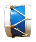 Photo lateral of bombo MMG 25cm in blue