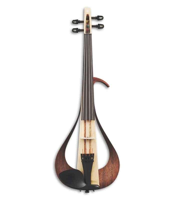 Foto frontal do violino elétrico Yamaha YEV-104 4/4