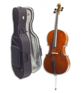 Cello Stentor Conservatoire 4/4 con Arco y Estuche