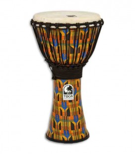 Djembe Toca Percussion SFDJ 10K Freestyle Rope Tuned Kente Cloth