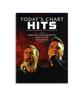 Livro Music Sales AM1002177 Todays Chart Hits Male Voices