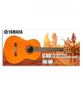 Pack de Guitarra Clássica Yamaha C40 com Afinador e Saco