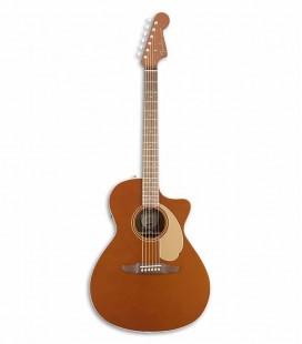 Fender Electroacoustic Guitar California Newporter Player RSC Rustic Copper
