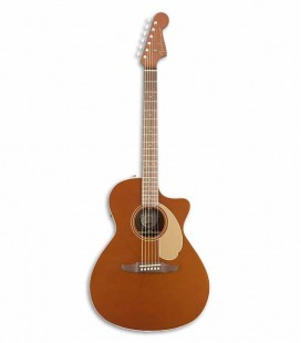 Guitarra Eletroacústica Fender California Newporter Player RSC Rustic Copper