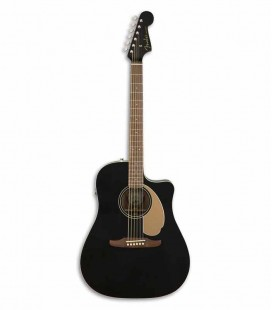 Guitarra Eletroacústica Fender Redondo Player Jetty Black JTB