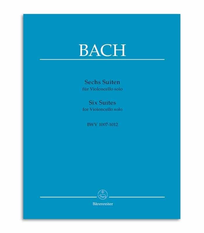 Capa do livro Bach 6 Suítes para Violoncelo Solo