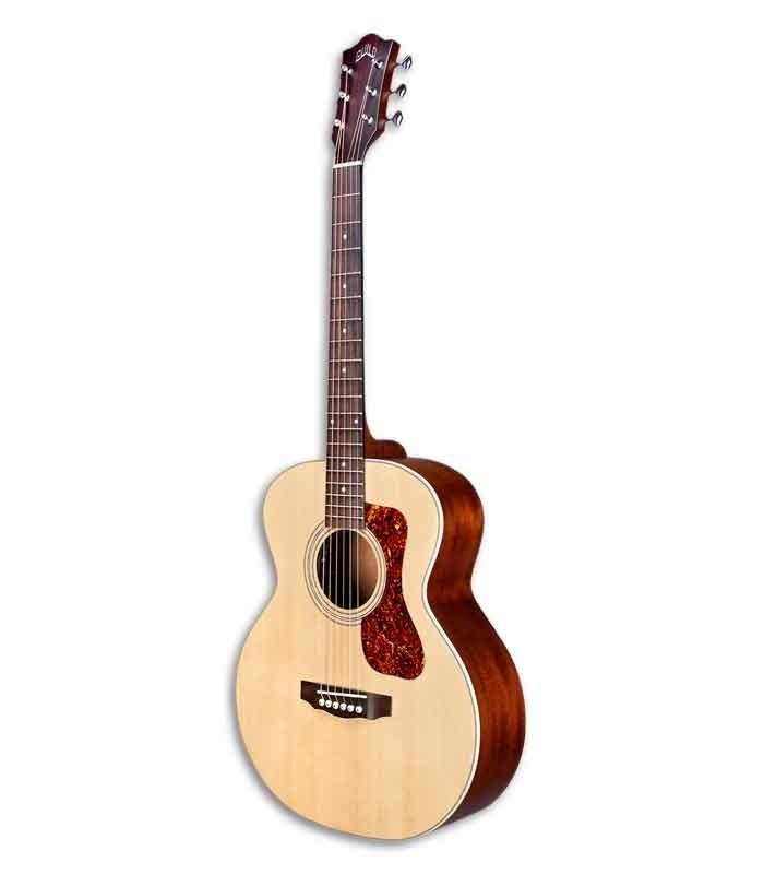 Guitarra Eletroacústica Guild Jumbo Junior Natural Spruce e Mogno com Saco