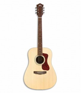 Guild Electroacoustic Guitar D240E Dreadnought Natural Spruce Mahogany with Bag