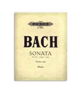 Bach Sonata nº 3 C Major para Violino Edition Peters