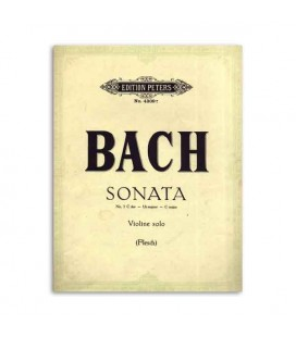 Livro Edition Peters EP4309E Peters Bach Sonata nº 3 C Major para Violino