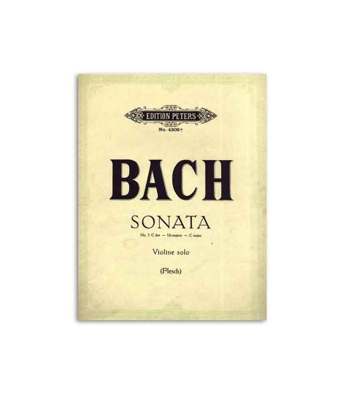 Libro Edition Peters EP4309E Peters Bach Sonata nº 3 C Major para Violín