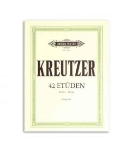 Libro Edition Peters EP284 Kreutzer 42 Estudios para Violín