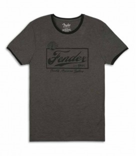 Camiseta Fender Gris Beer Label Ringer Size XL
