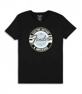 Camiseta Fender Negra G and A Logo Size XL