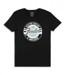 T Shirt Fender Preta G and A Logo Size XL