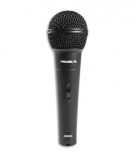 Microfone Proel DM800 Dynamic Microphone  com Interruptor e Cabo