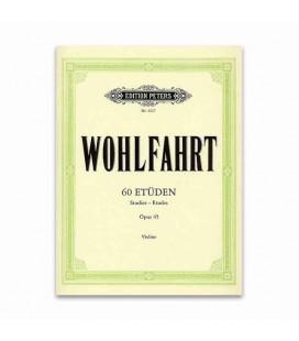 Livro Edition Peters EP3327 Wohlfahrt 60 Estudos para Violino OPUS 45