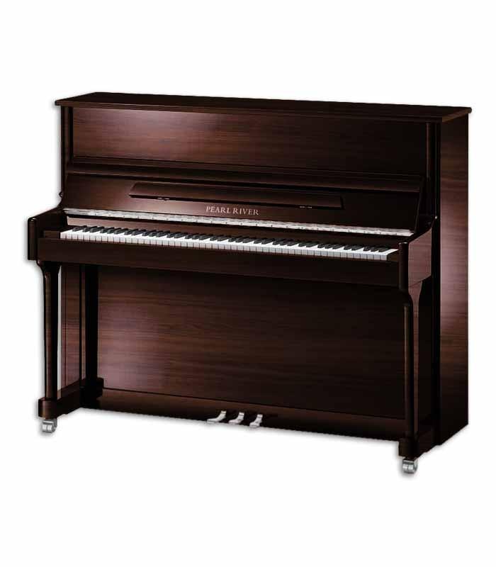 O piano vertical AEU118S PW Classic tem um visual contemporâneo e um som potente, com grande abrangência e definição