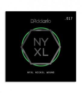 Cuerda Individual Daddário NYNW017W 017 Bordón para Guitarra Elétrica