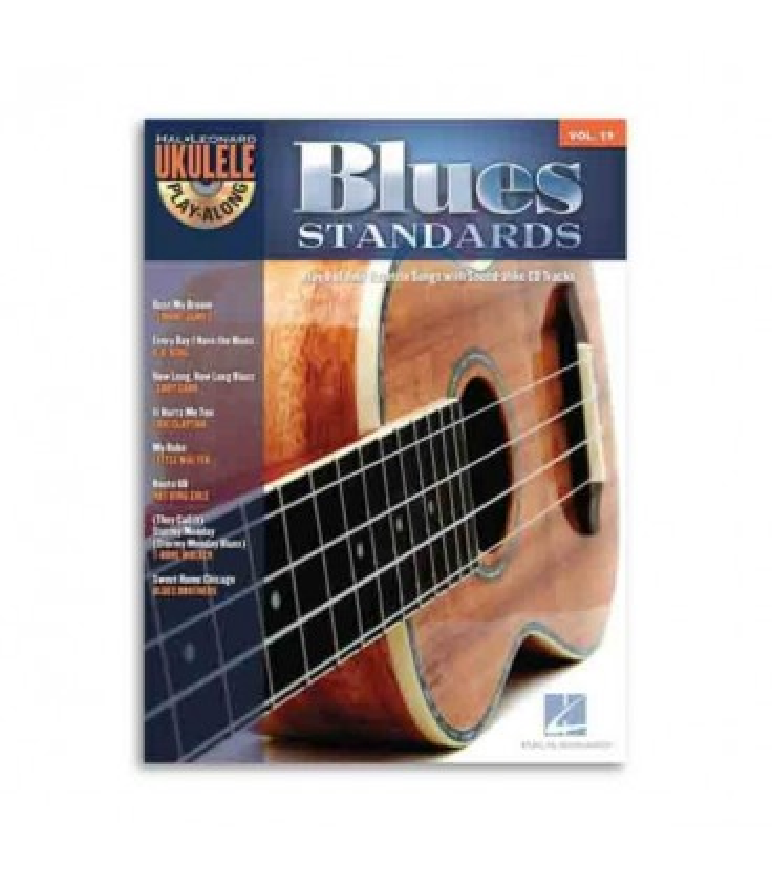 Livro Music Sales HL00703087 Ukulele Play Along Blues Standards Volume 19