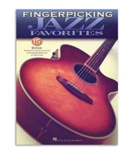 Libro Music Sales Fingerpicking Jazz 15 Songs HL00699844