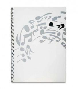 Caderno Pautado 12 Pautas Alto 2512