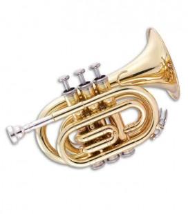Trompete John Packer JP159 Pocket Si Bemol Dourado com Estojo