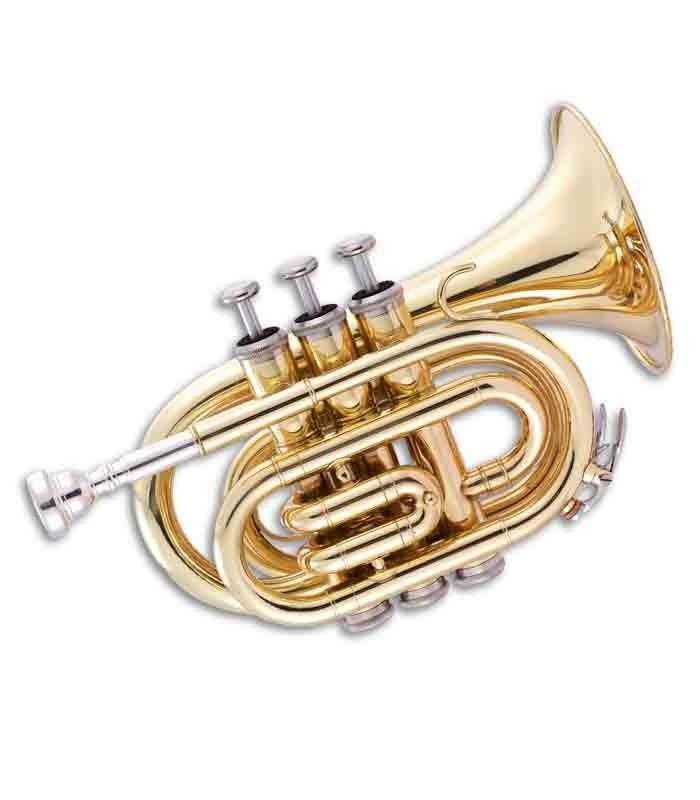 Trompeta John Packer JP159 Pocket Si Bemol Dorado con Estuche