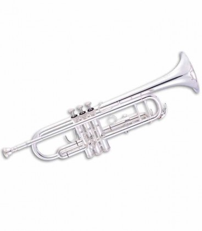 Trompete John Packer JP151S Si Bemol Prateado com Estojo