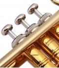 Trompete John Packer JP351SWST Si Bemol Dourado com Estojo