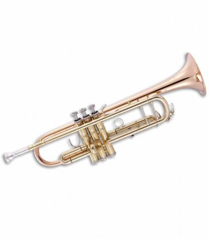 John Packer Trumpet JP251SWR B Flat Golden and Rose Brass with Case
