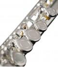 Photo detail of the keys of the John Packer Flute JP011