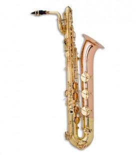 Saxofone Barítono John Packer JP044 Mi Bemol Dourado com Estojo