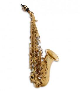 Saxófono Soprano Curvo John Packer JP043CG Si Bemol Dorado con Estuche