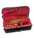 Saxofone Soprano Curvo John Packer JP043CG Si Bemol Dourado com Estojo
