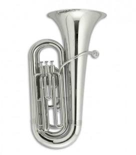 Tuba Compacta John Packer JP078S Si Bemol Plateada con Estuche