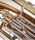 Foto detalle de los pistones de la Tuba John Packer JP278