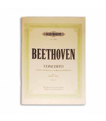 Edition Peters Book Beethoven Concerto No 2 Op 19 P2894B