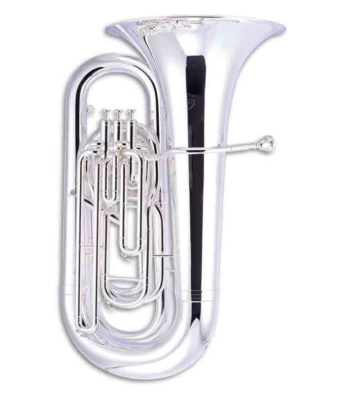 Tuba John Packer JP278S Si Bemol Prateada com Estojo